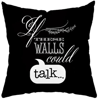 Checkerboard Talking Walls Poly Cotton Throw Pillow