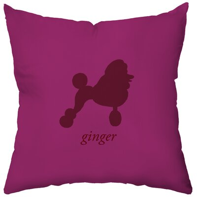 Checkerboard, Ltd Personalized Poodle Poly Cotton Throw Pillow