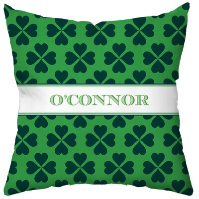 Checkerboard Personalized Luck O' the Irish Poly Cotton Throw Pillow