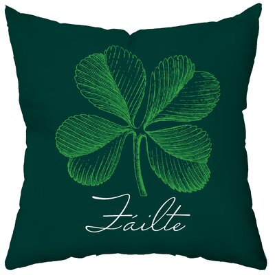 Checkerboard, Ltd Personalized Luck O' the Irish Poly Cotton Throw Pillow