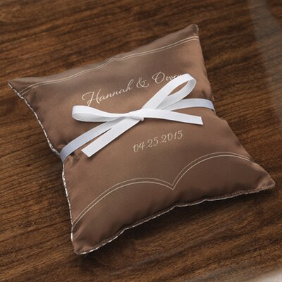 Checkerboard Personalized Dianthus Satin Ring Pillow