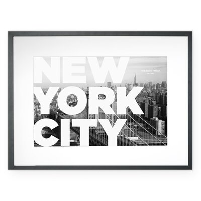 Personalized New York City Framed Graphic Art
