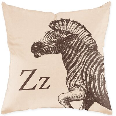 Checkerboard, Ltd Zebra Poly Cotton Throw Pillow