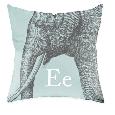 Checkerboard, Ltd Elephant Polyester Throw Pillow