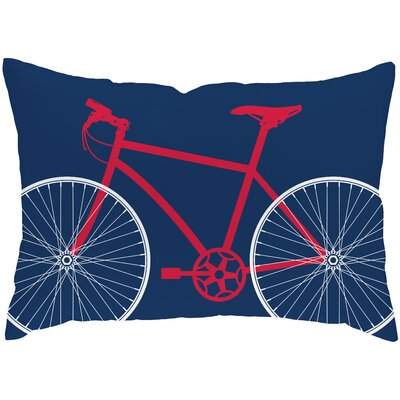 Checkerboard Bicycle Polyester Outdoor Throw Pillow