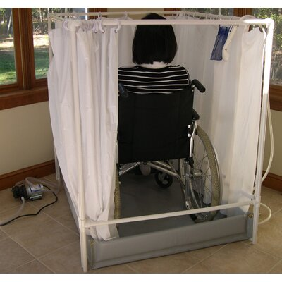 LiteShower Wheelchair Accessible Portable Shower Stall Standard Model R