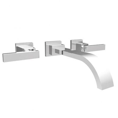 Secant Wall Mounted Bathroom Faucet with Double Handles - 3-2041