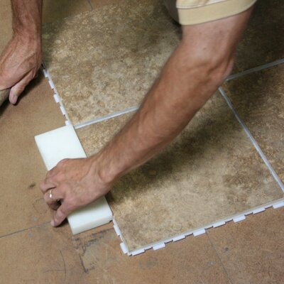 """Avaire Standard 12"""" x 12"""" Porcelain Tile with Interlocking Tray in Sedona"""