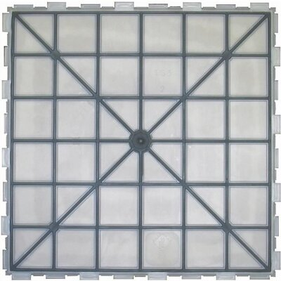 "Avaire Choice 6"" x 6"" Porcelain Tile with Interlocking Tray in Glacier"