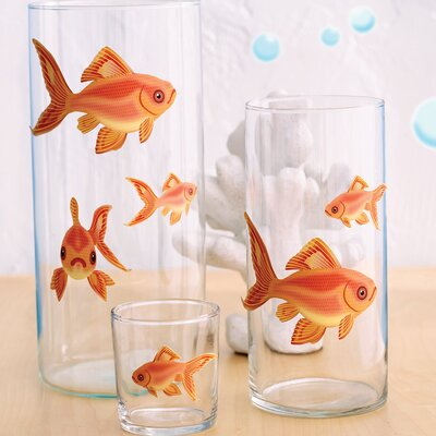 Wallies Goldfish Self-Adhesive Cutouts