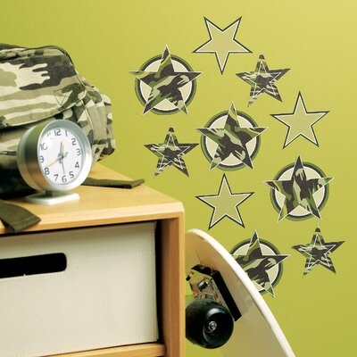 Wallies Camo Stars Wallpaper Cutouts