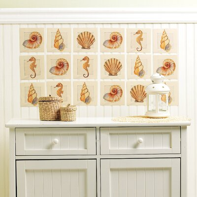 Wallies Sanibel Shore Wall Art Vinyl Peel and Stick
