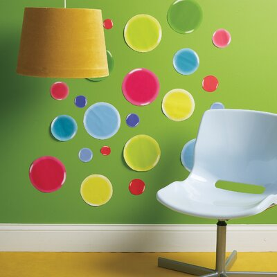 Wallies 3-D Dots Wall Art Vinyl Peel and Stick