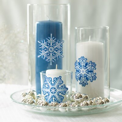 Wallies Crystal Snowflakes Peel and Stick Holiday Vinyl Decals