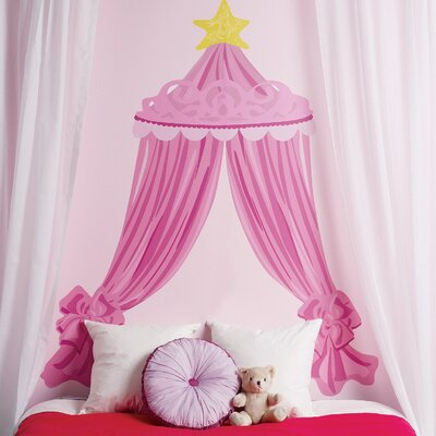 Wallies Pink Canopy Headboard Vinyl Peel and Stick Mural