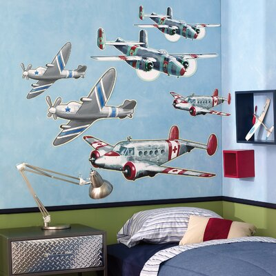 Wallies Airplanes Wallpaper Mural