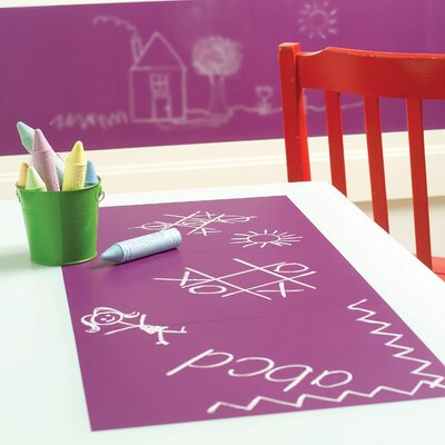 Wallies Grape Chalkboard - 4 Sheet Vinyl Peel and Stick