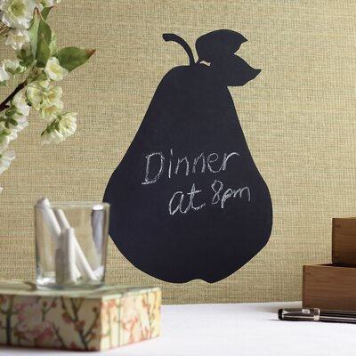 Wallies Pear Chalkboard Accent Vinyl Peel and Stick
