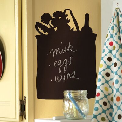 Wallies Tote Bag Chalkboard Accent Vinyl Peel and Stick