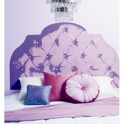 Wallies Purple Tufted Headboard Wall Sticker