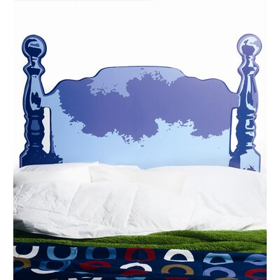 Wallies Blue Wood Headboard Wall Sticker