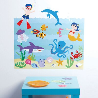 Wallies Olive Kids Aquarium Play Wall Mural