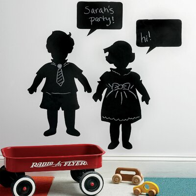 Wallies Vintage Kids Chalkboard Mural in Black
