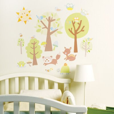 Wallies Animal Tales Peel and Stick Wall Stickers