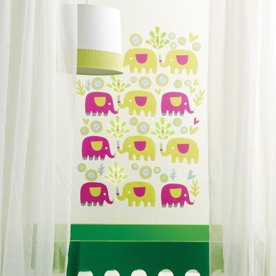 Wallies Elephants Peel and Stick Wall Stickers