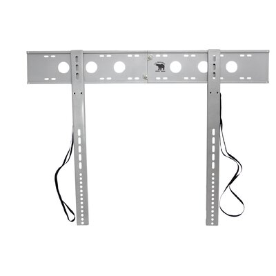 "US Brown Bear Large Ultra Low Profile Silver LED TV Mount for 42"" to 65"" Displays"
