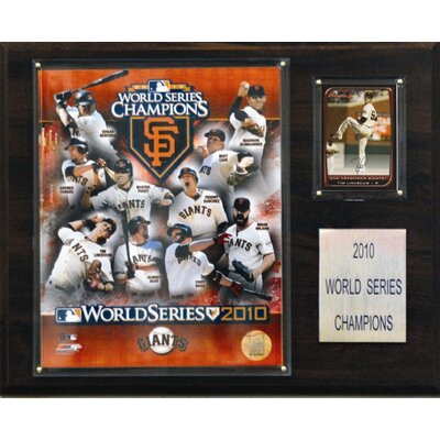 C & I Collectibles MLB San Francisco Giants 2010 World Series Championship Plaque