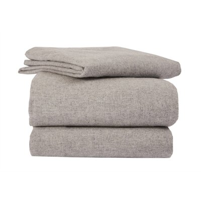 La Rochelle Heather Solid Flannel Sheet Set