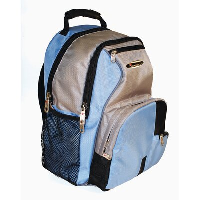 iSafe Built-in Alarm School Backpack in Blue & Grey