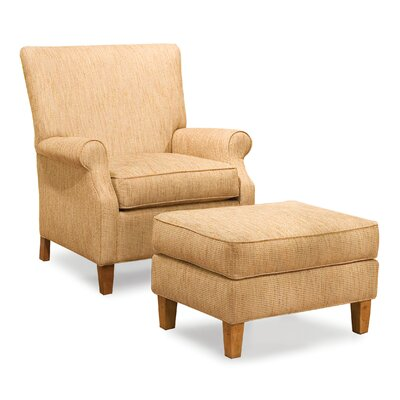 Fairfield Chair Kacia Curved Back Chair and Ottoman