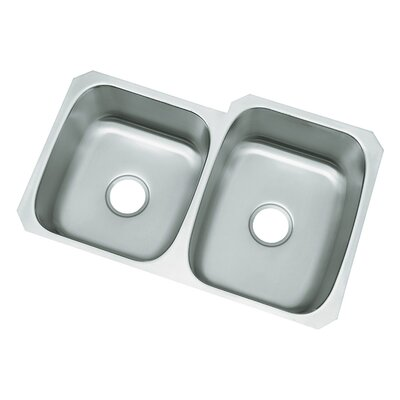 "Sterling by Kohler McAllister 31.75"" x 20.75"" No Holes Undermount Double Bowl Kitchen Sink"