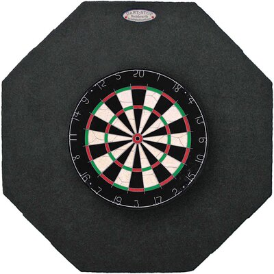 "Dart-Stop Original 36"" Octagonal Backboards in Black"