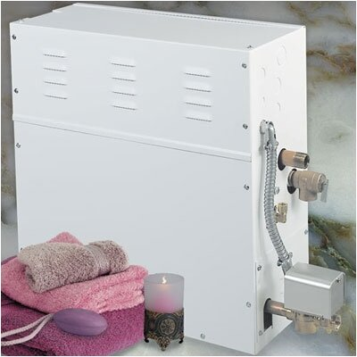 Steamist SM-12 Large Fixed Kilowatt Steam Bath Generator with Drain Option