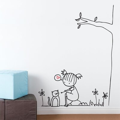 ADZif Piccolo Purring Cat Wall Decal