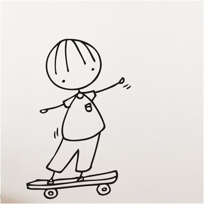 ADZif Piccolo Skateboard Hero Wall Decal