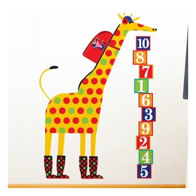Piccolo Schooltime Giraffe Wall Decal