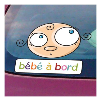 ADZif Signal Baby on Board Window Sticker