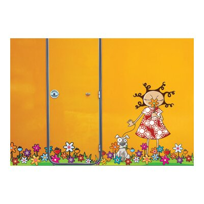 ADZif Ludo Lou in Flowers Wall Decal