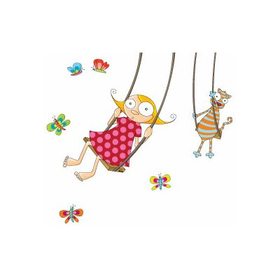 ADZif Ludo Swing Girl Wall Decal