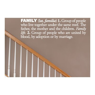 ADZif Blabla Family (English) Wall Decal