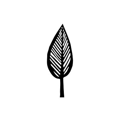 ADZif Spot Cypresstree Wall Decal in Black