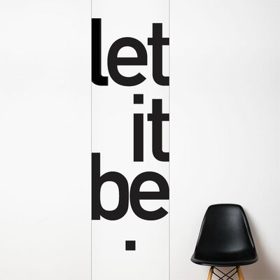 ADZif Unik Let it be Wall Decal