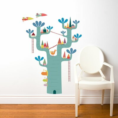 ADZif Piccolo Village in The Tree Wall Stickers