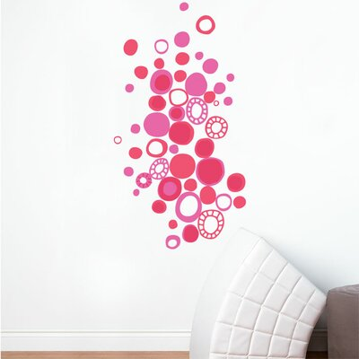 ADZif Piccolo Pink Polka Dots Wall Sticker