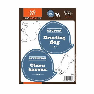 Signal Drooling Dog Window Sticker