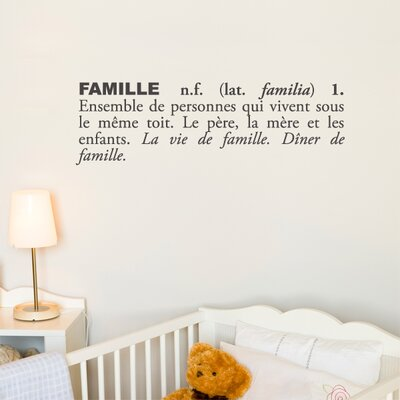 ADZif Blabla Famille (French) Wall Decal